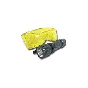 Ultravioletinių spindulių lempa freono nuotekio paieškai 12V BEI UV akiniai