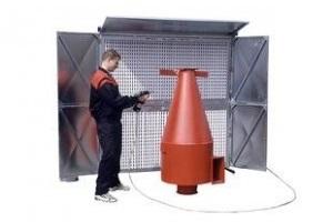 Dviejų segmentų ventiliacinis agregatas dažymo darbo vietai