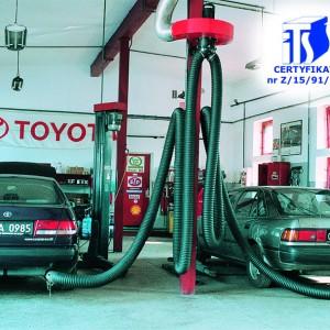 Dujų nutraukimo įranga