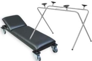 Kėdutės, vežimėliai, stendai, darbastaliai